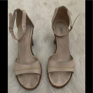 Authentic Louis Vuitton wedge sandals